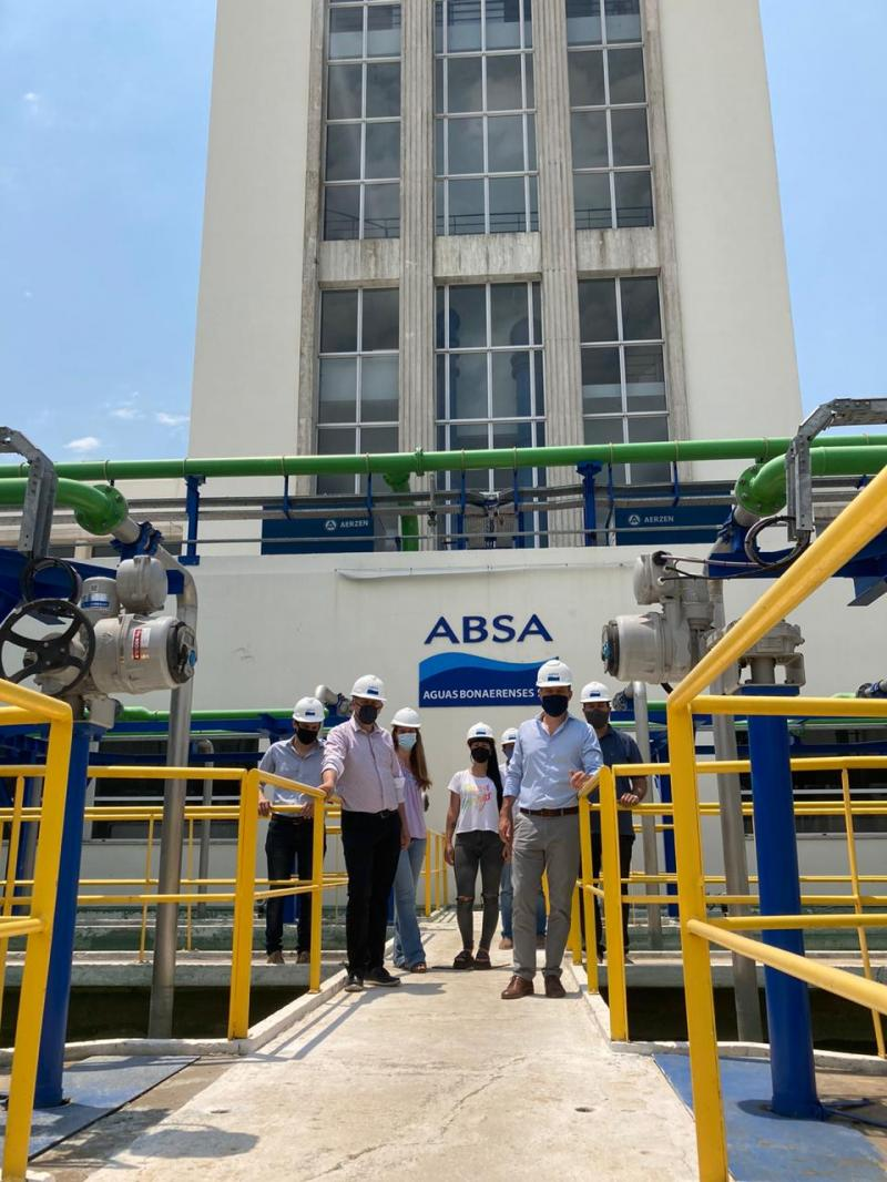 El presidente de ABSA, funcionarios provinciales y ediles de La Plata recorrieron la Planta Potabilizadora
