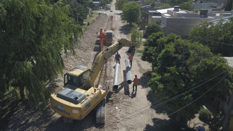 Avance de obras y trabajos en la red de agua en Bahía Blanca