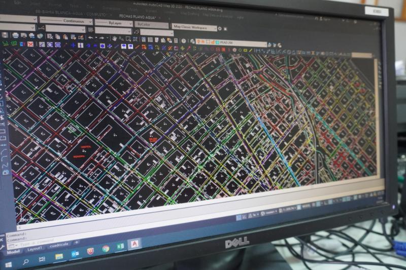 ABSA: digitalización y georreferenciación de sus redes en Bahía Blanca