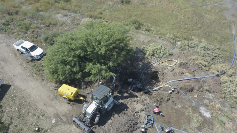 Ingeniero White:  Concluyeron los trabajos de reparación sobre el acueducto