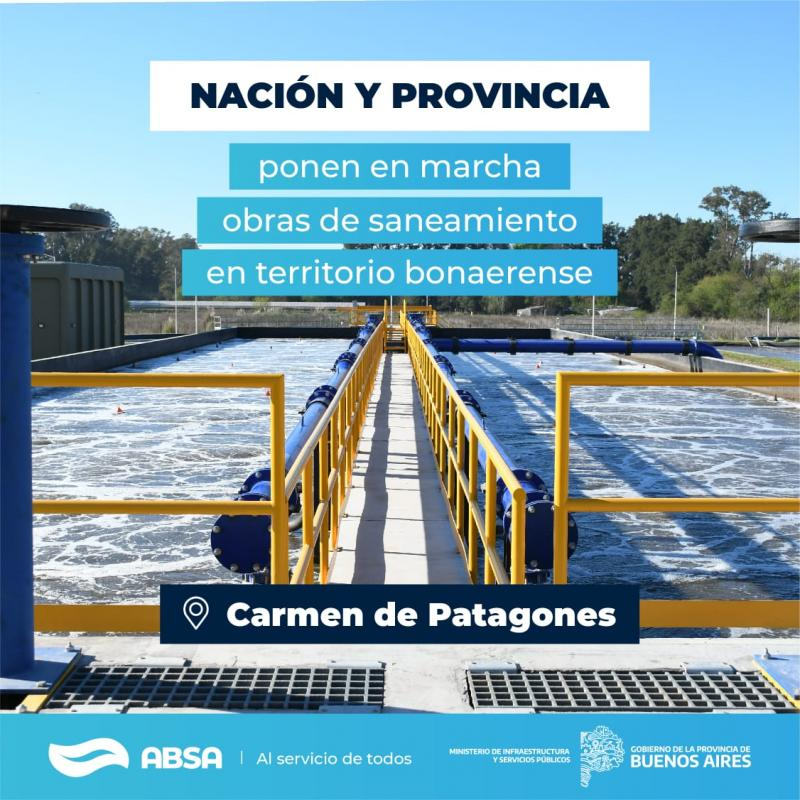 Con una inversión de $ 800 millones de pesos, ABSA construirá una Planta Depuradora en Patagones