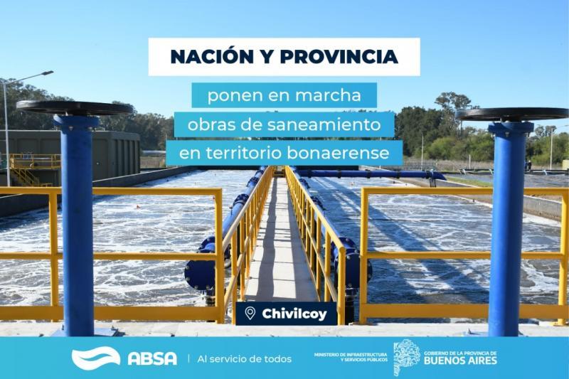 Con una inversión de 800 millones de pesos, ABSA ampliará la Planta Depuradora en Chivilcoy
