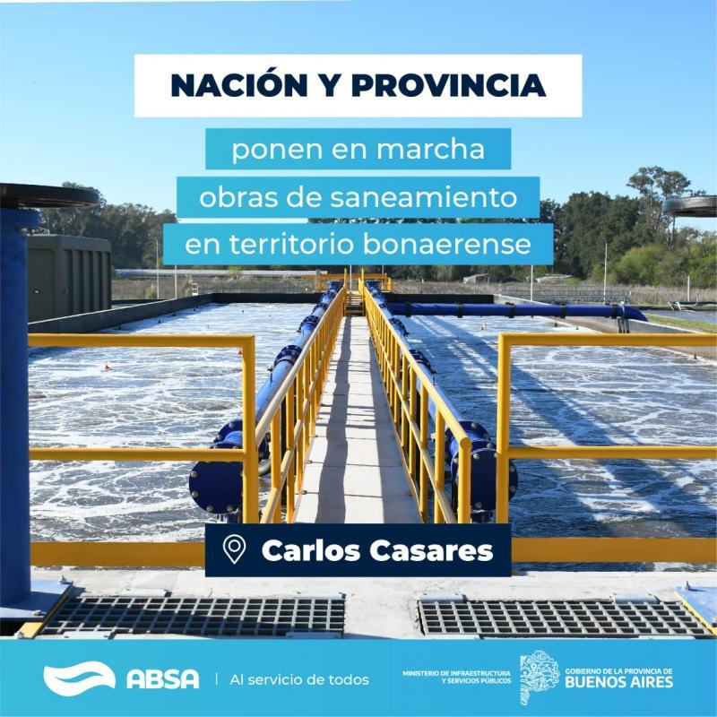 Con una inversión de $ 750 millones ABSA construirá una Planta Depuradora en Carlos Casares