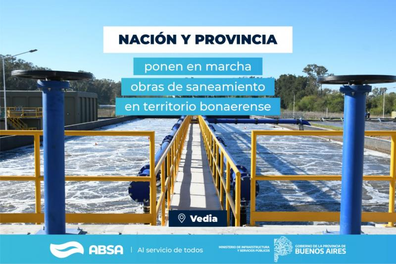 Con una inversión de $ 240 millones, ABSA construirá una Planta Depuradora en Vedia