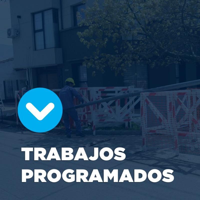 Trabajos programados sobre cañería en zona centro de General Rodríguez