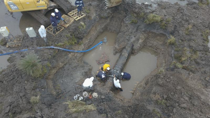 Finalizó la reparación del acueducto en Punta Alta