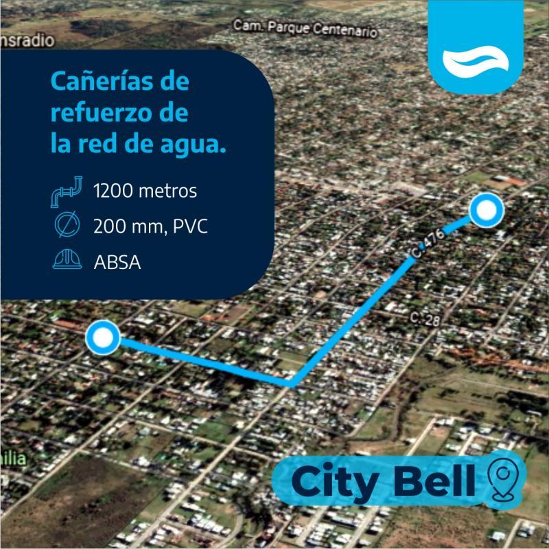 ABSA instala 1200 metros de cañerías de refuerzo en City Bell