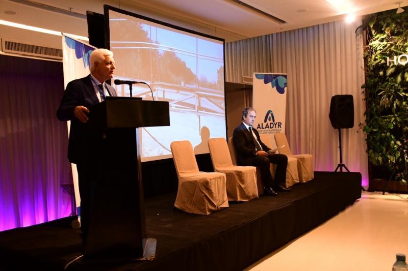 El presidente de ABSA, Raffaele Sardella, abrió el III Seminario Internacional ALADYR junto a los principales líderes del sector del agua