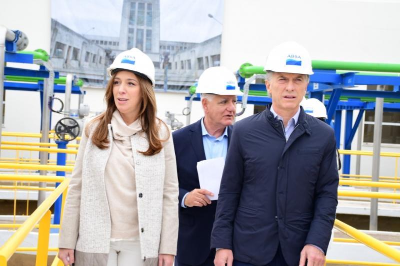 Punta Lara: El Presidente Macri, la Gobernador Vidal  y el titular de ABSA, Raffaele Sardella inauguraron la Planta Potabilizadora de ABSA