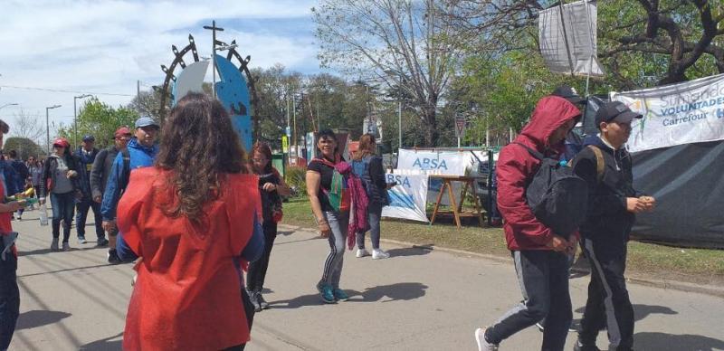 ABSA colaboró con la hidratación en la 45° Peregrinación a Luján