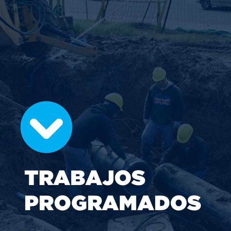 Trabajos programados sobre la red de agua en Villa Elvira
