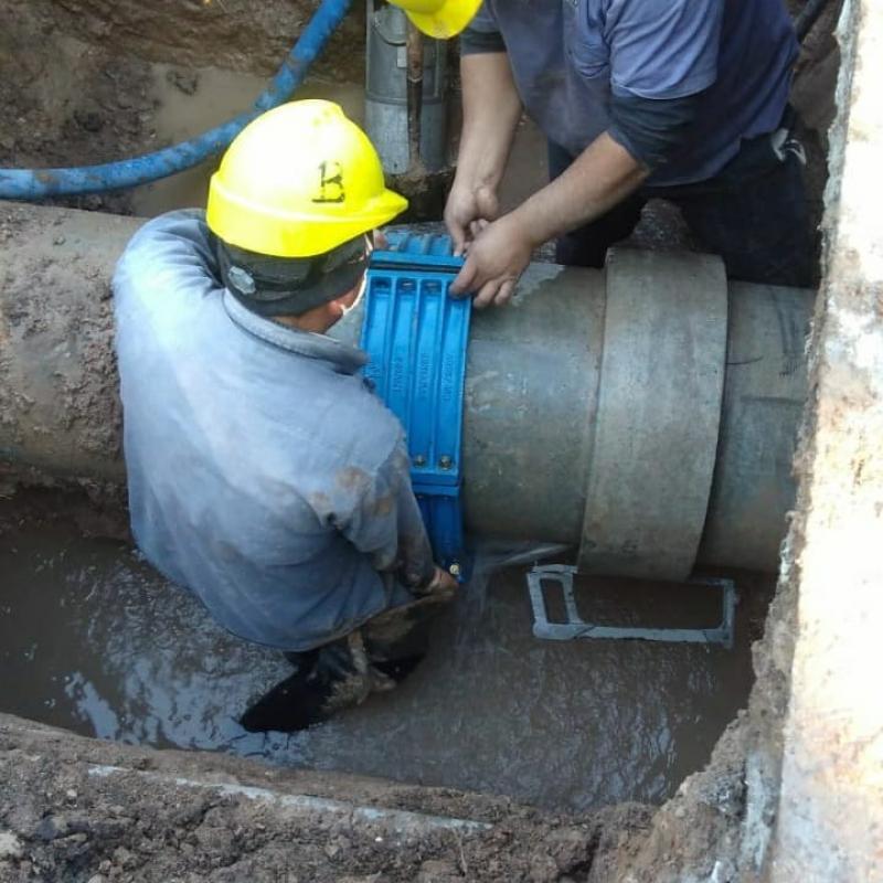 Finalizaron las reparaciones sobre la red de agua en La Plata