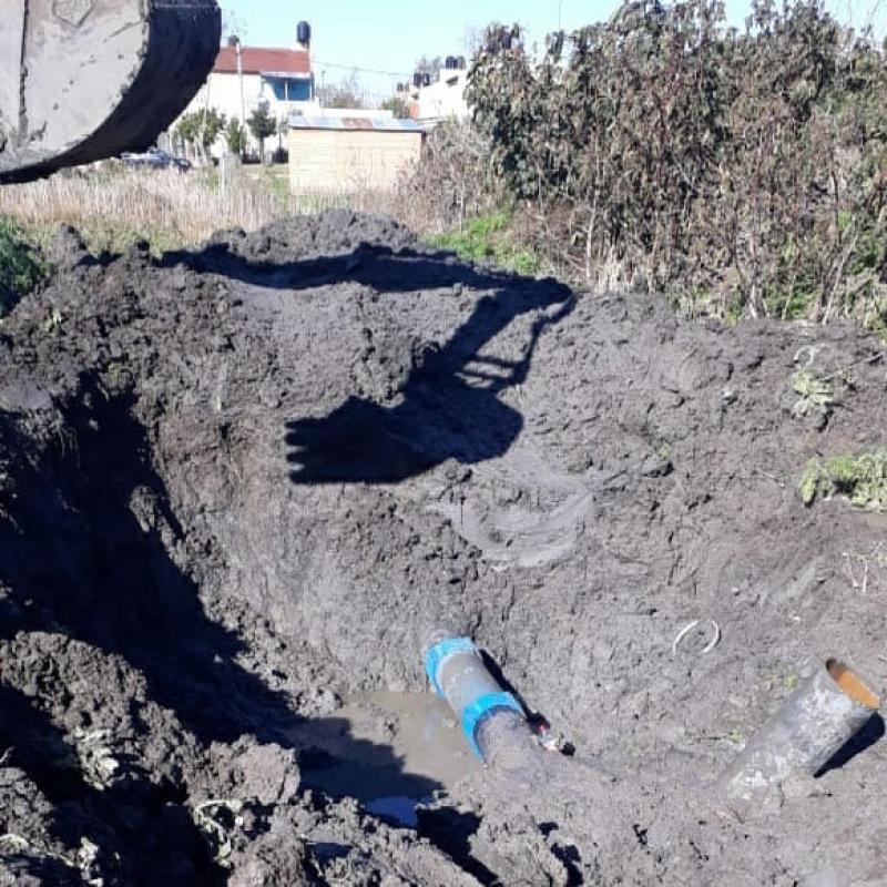 Reparación sobre el Acueducto Norte en La Plata