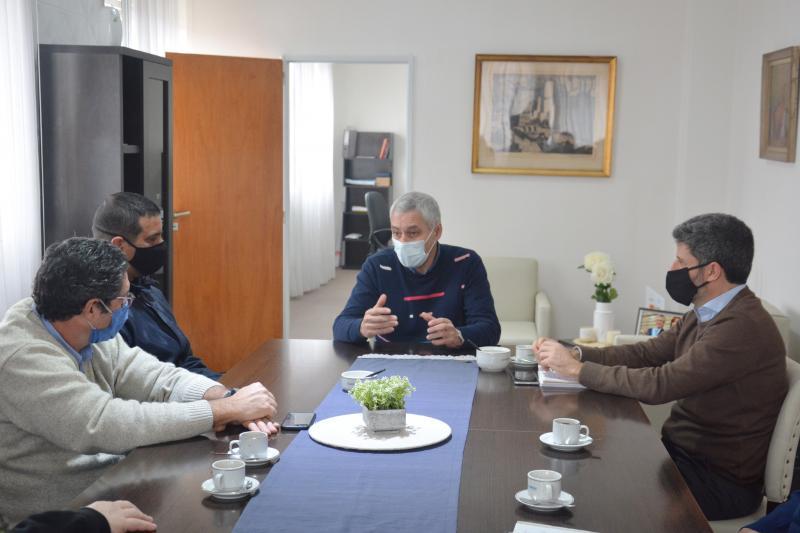 El Presidente de ABSA mantuvo una reunión de trabajo con el Intendente de Berisso