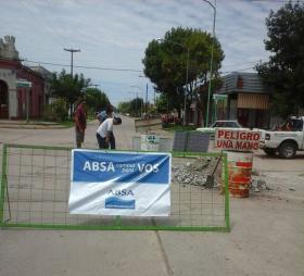 Carlos Casares - Trabajos de ABSA para la mejora del servicio de agua y cloacas